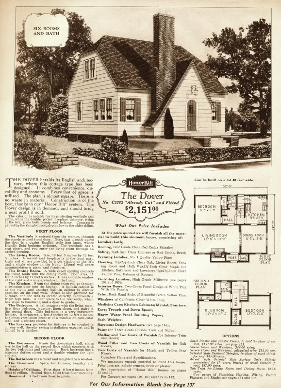 The Dover was a Sears Honor Bilt house, with similar versions apparent throughout North Omaha.