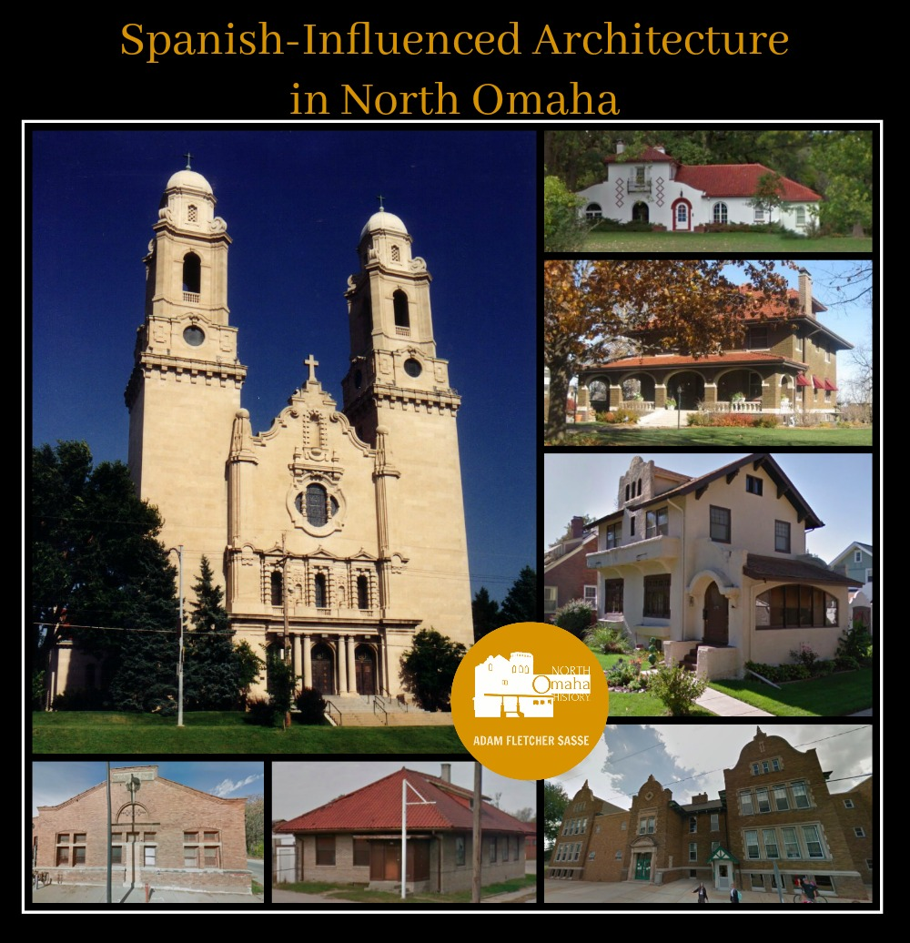 Spanish Influenced Architecture in North Omaha, Nebraska