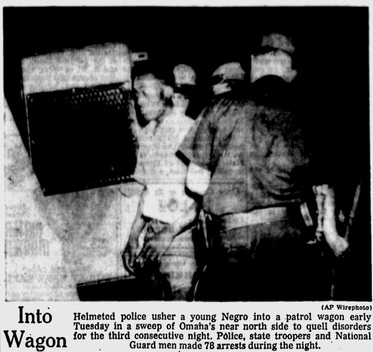 This is a newspaper featurette about arrests made during the June 24, 1969 rioting on North 24th Street and beyond.