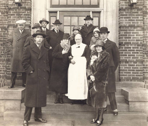 1927 visit of Prince Wilhelm of Sweden at the Immanuel Deaconess Institute, North Omaha, Nebraska