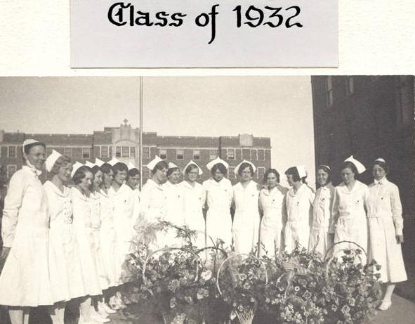 1932 graduating class of the School of Nursing, Immanuel Deaconess Institute, North Omaha, Nebraska