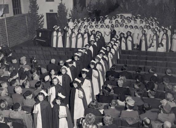 1948 Capping Ceremony, Immanuel Deaconess Institute Nursing School, North Omaha, Nebraska