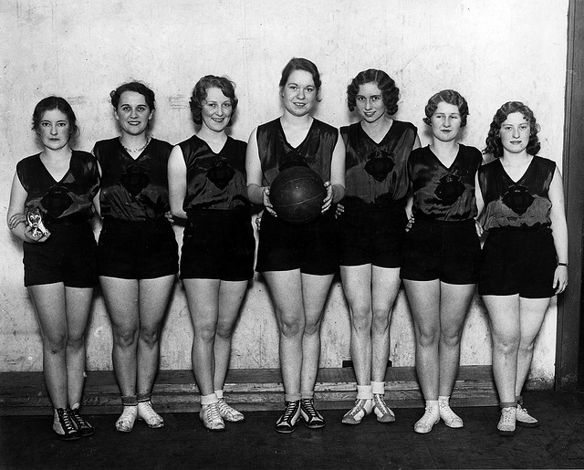 Omaha University girls basketball team, North Omaha, Nebraska