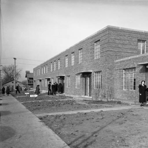 The federally-funded Logan Fontenelle Public Housing Projects were built in 1938-39 to house low-income residents. They were demolished in the late 1990s.