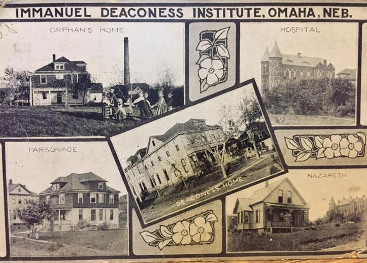 Immanuel Deaconess Institute postcard North Omaha Nebraska circa 1910