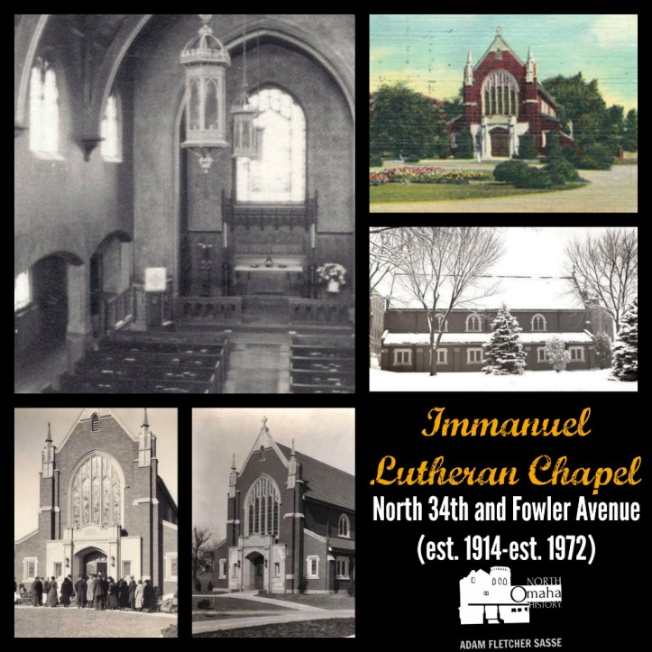 Immanuel Lutheran Chapel, N. 34th and Fowler, North Omaha, Nebraska