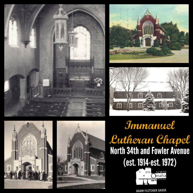 Immanuel Lutheran Chapel, N. 34th and Fowler, North Omaha, Nebraska