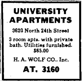 University Apartments at 3620 North 24th Street, North Omaha, Nebraska