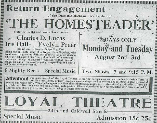 Loyal Theatre, North 24th and Caldwell Streets, North Omaha, Nebraska