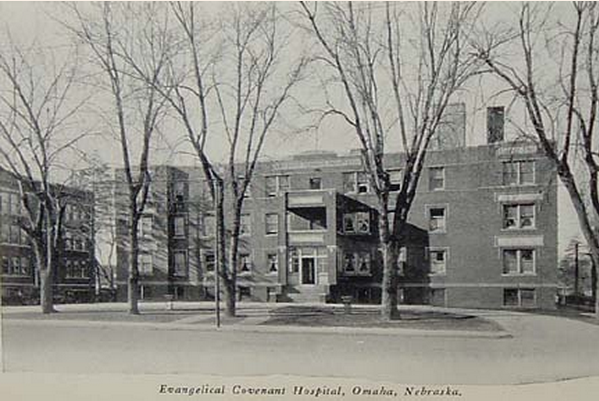 Omaha Evangelical Covenant Hospital, 3706 North 24th Street, North Omaha, Nebraska