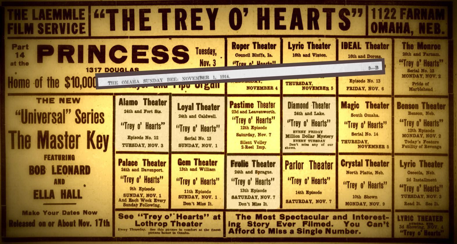 Find info on the North Omaha theaters mentioned in this 1914 ad - and many more - in this article!