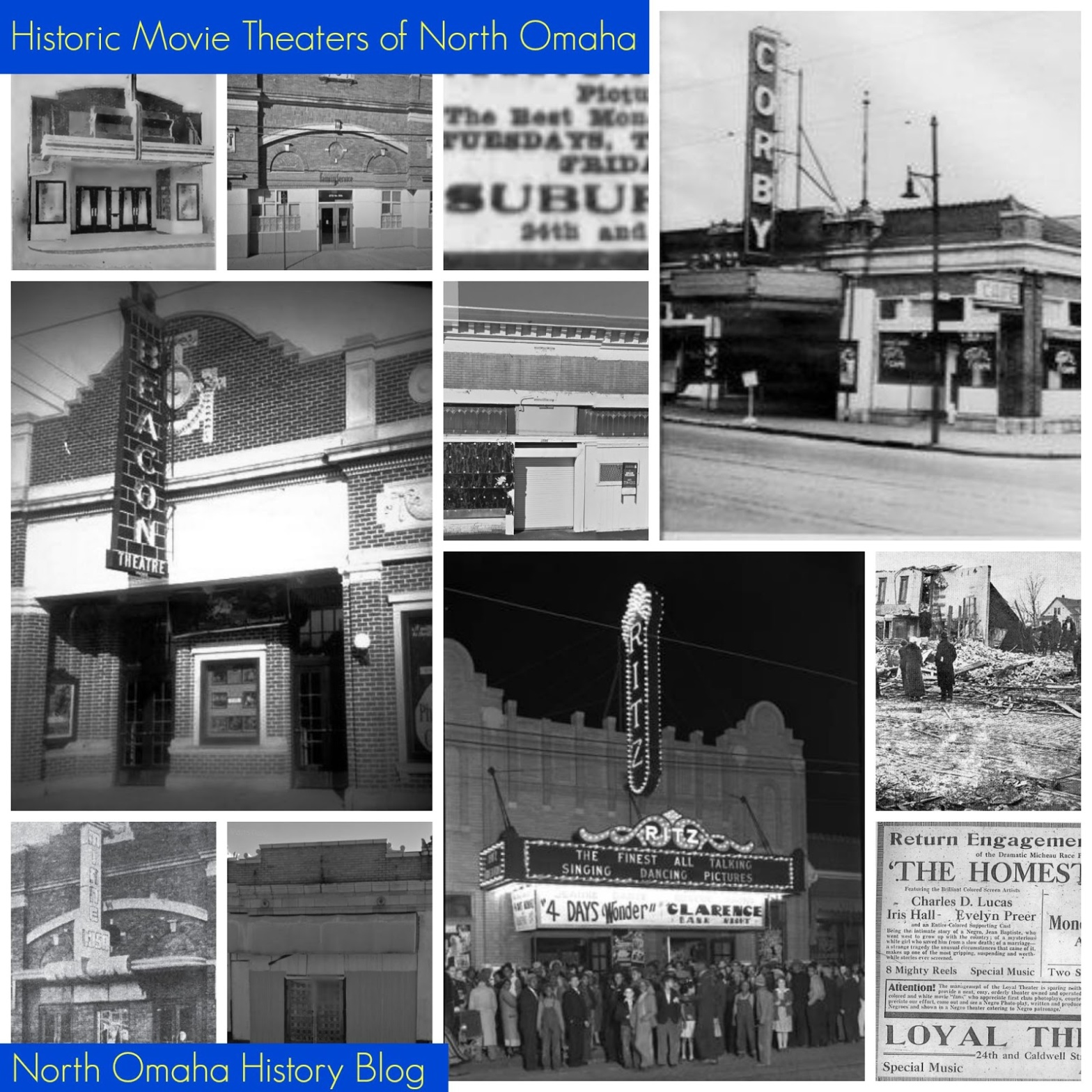 Historic movie theaters of North Omaha, Nebraska