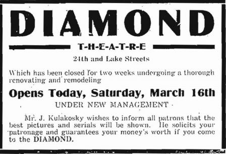 Diamond Theatre, N. 24th and Lake, North Omaha, Nebraska
