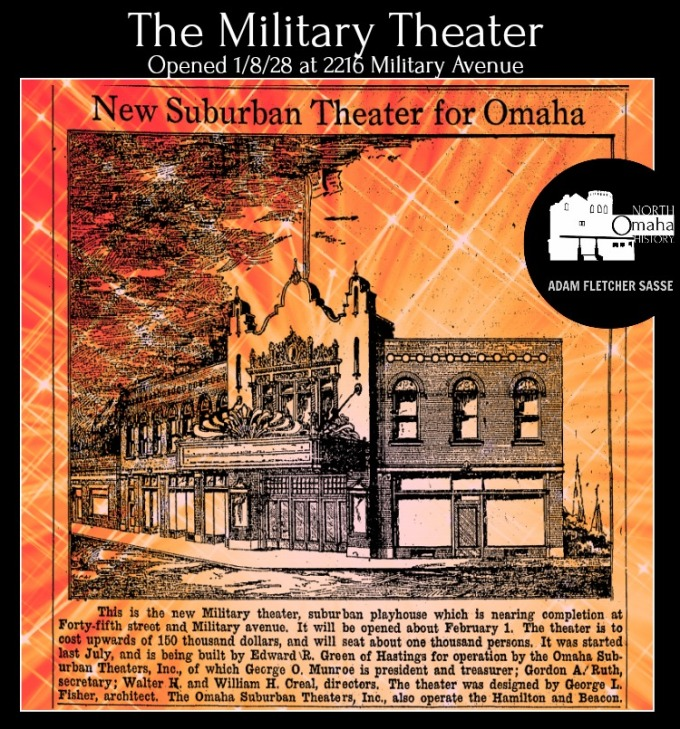 Military Theater, 2216 Military Avenue, North Omaha, Nebraska