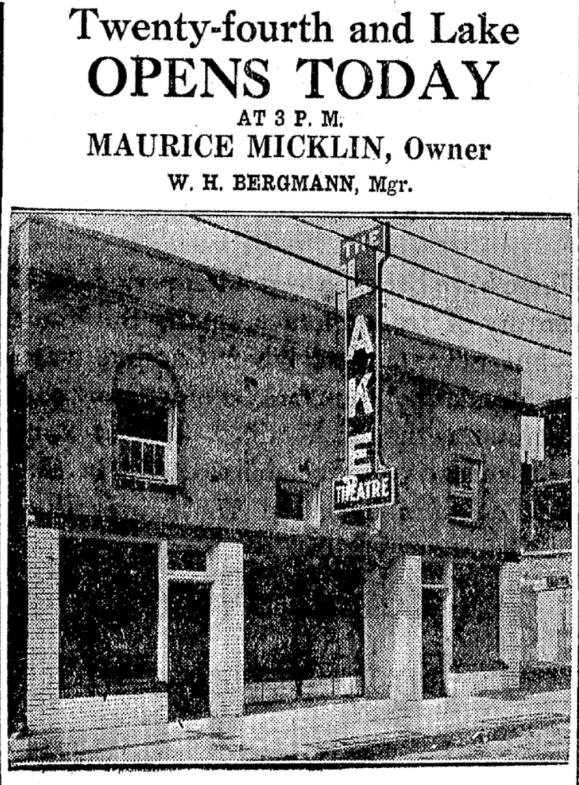 Lake Theater, 2410 Lake Street, North Omaha, Nebraska