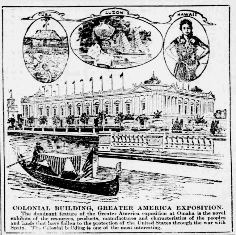 Colonial Building at the Greater America Exposition in North Omaha, Nebraska
