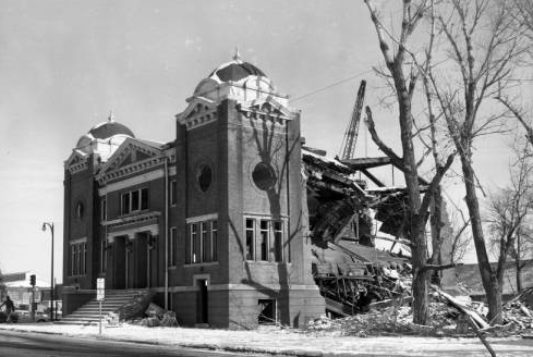 Beth Hamedrosh Hogodel Synagogue, Florence Boulevard and Burt Streets, North Omaha, Nebraska