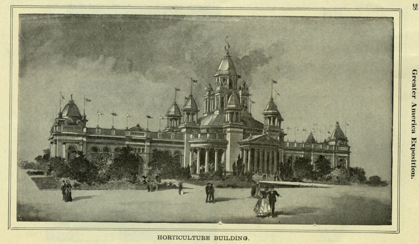Horticulture Building, 1899 Greater America Exposition, North Omaha, Nebraska