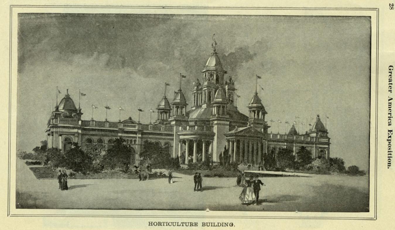 Horticulture Building, 1899 Greater America Exposition, North Omaha, Nebraska