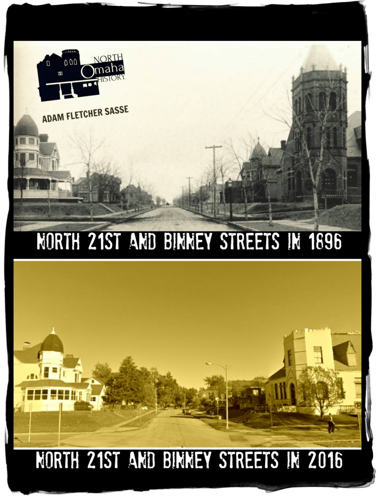 Then and Now of 21st and Binney, North Omaha, Nebraska