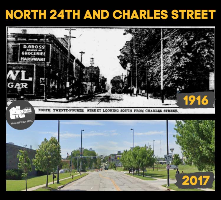 North 24th and Charles Street, North Omaha, Nebraska