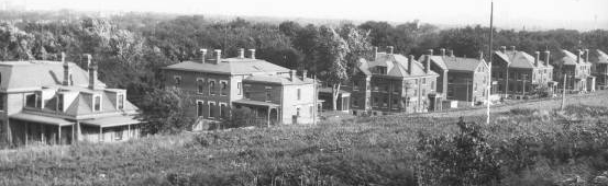 Fort Omaha Officer's Row houses, North Omaha, Nebraska,