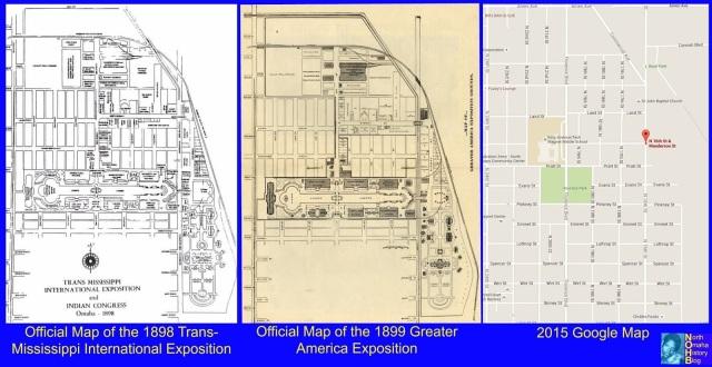 A NorthOmahaHistory.com map of the Expo grounds