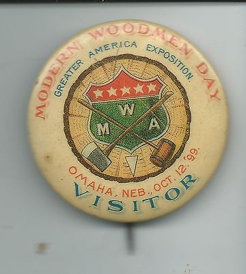 """Modern Woodmen Day"" pin, Greater America Exposition, North Omaha, Nebraska"