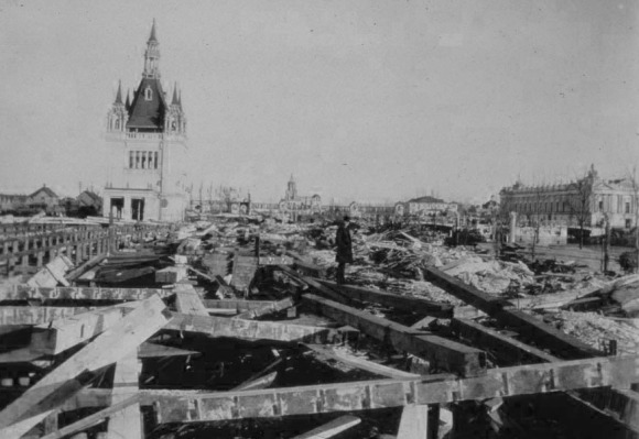 Expo Ground demolition, North Omaha, Nebraska