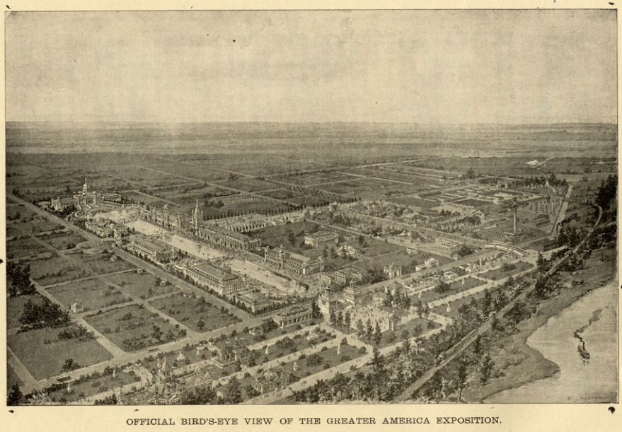 1899 Greater America Exposition birdseye view.