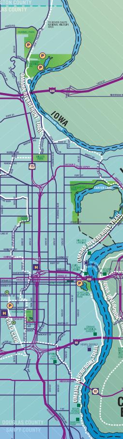 Omaha Riverfront Trail from UNMC., Omaha, Nebraska