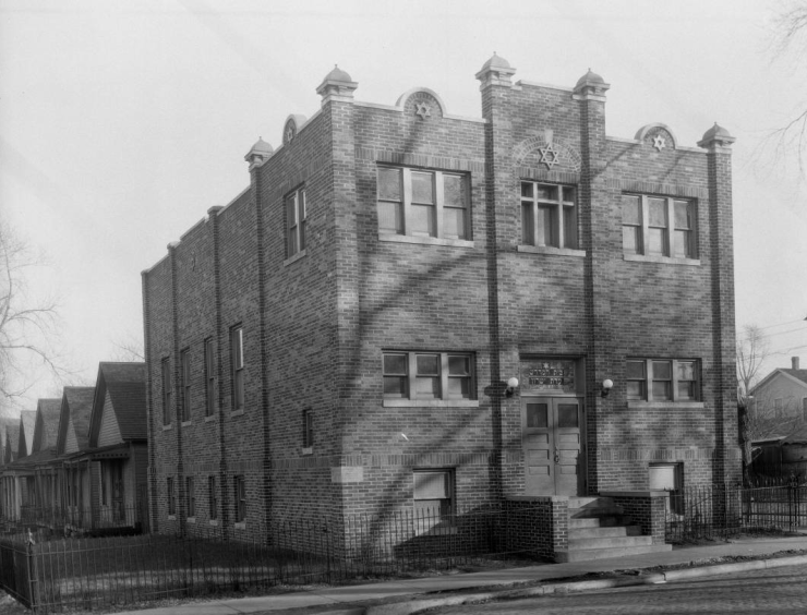 This is the Beth Hamedresh Ados Yeshuren synagogue, 2531 Seward Street, Long School neighborhood of North Omaha, Nebraska