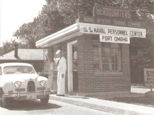This is the main entryway to Fort Omaha in the 1950s when it was U.S. Navy installation.