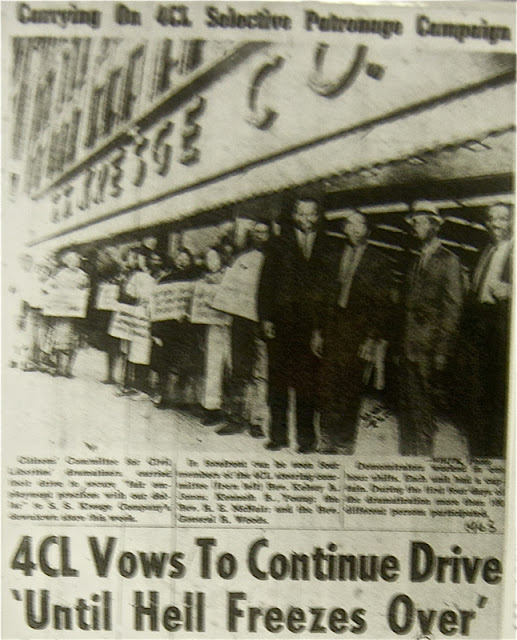 1964 civil rights protest of S.S. Kresge Co. store, Omaha, Nebraska