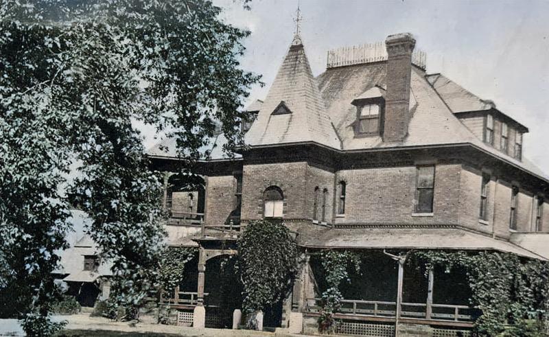 Elizabeth Place, the A.J. Poppleton Mansion, North Omaha, Nebraska