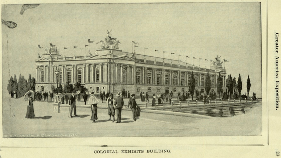 Colonial Exhibits Building, Trans-Mississippi Exposition, North Omaha, Nebraska