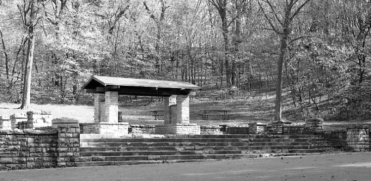 Works Progress Administration Picnic Shelter, Hummel Park, North Omaha, Nebraska