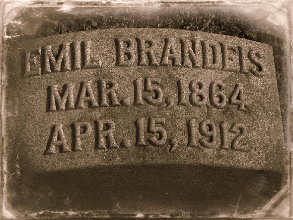 Emil Brandeis (1864-1912) gravemarker, North Omaha, Nebraska