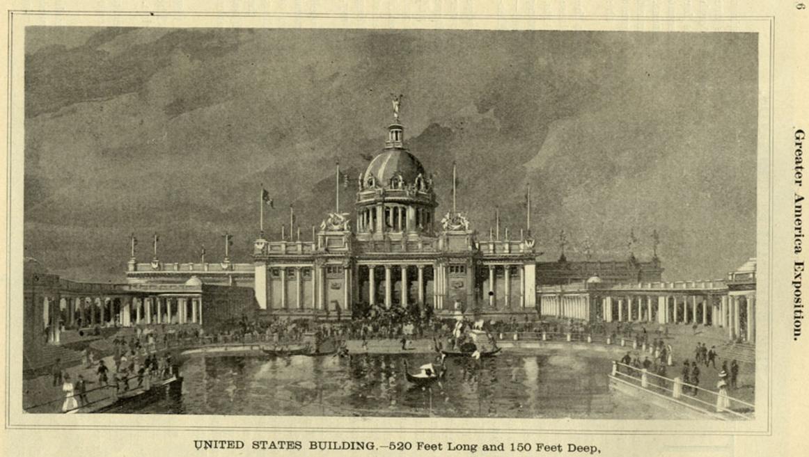 United States Building, Greater America Exposition, North Omaha, Nebraska