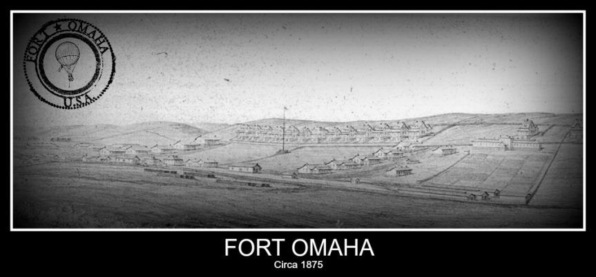 An 1875 drawing of Fort Omaha, Nebraska