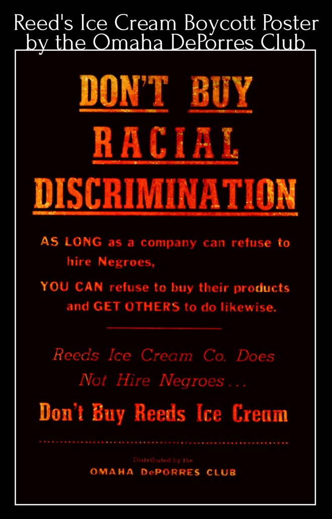 1953 DePorres Club Reed's Protest Poster, Omaha, Nebraska