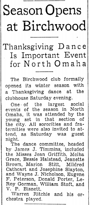 Birchwood Club, North Omaha, Nebraska