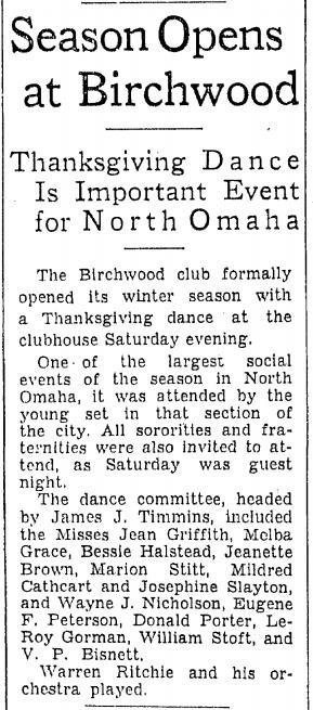 Birchwood Club, North Omaha, Nebraska
