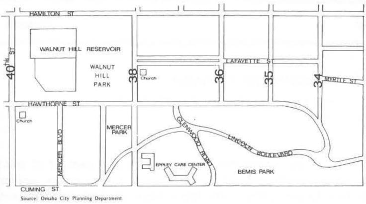 Bemis Park Neighborhood map North Omaha Nebraska