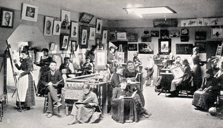 1893 Nebraska School for the Deaf class