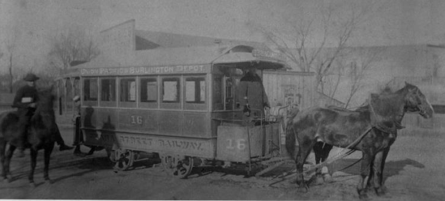 This is the Number 16, a streetcar that went from the railroad stations downtown, up Cuming Street to the Walnut Hill neighborhood.