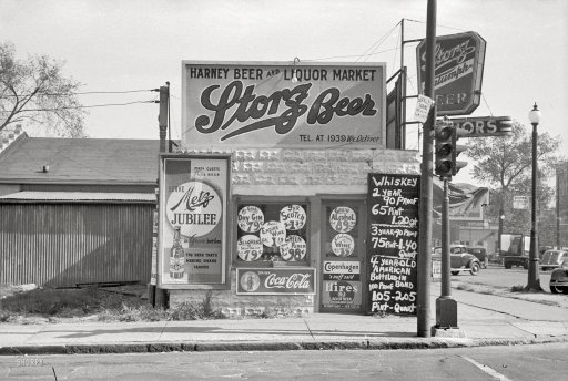 This is a Storz Beer ad in Omaha circa 1940.