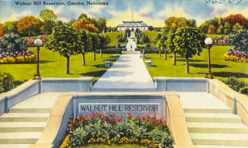Walnut Hill Reservoir, N. 40th and Hamilton Street, North Omaha, Nebraska