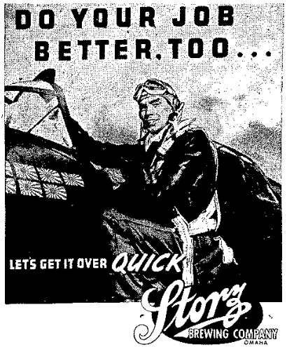 WWII Storz beer ad