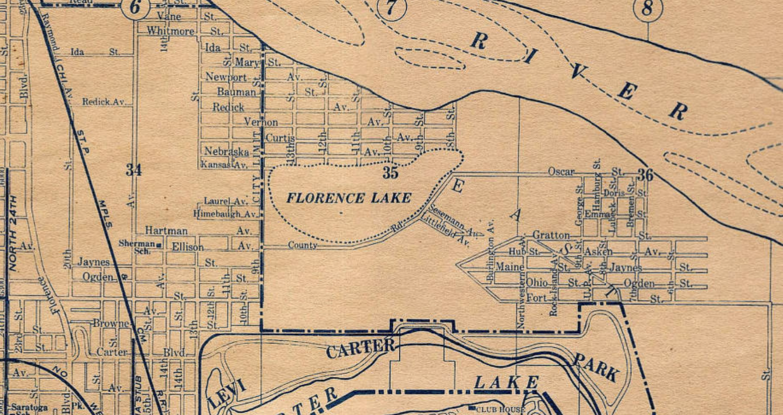1902 Florence Lake near N. 9th and Hartman St, Omaha, Nebraska.